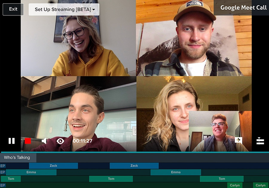 Record Video Conference Meetings Directly In Vosaic