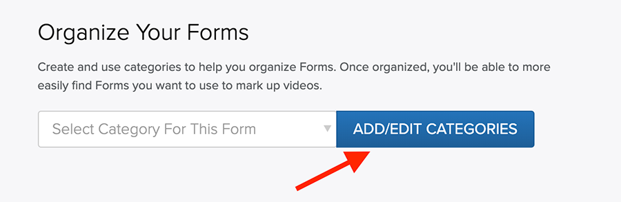 Add or Edit Form Categories