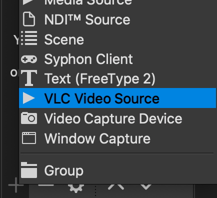 Select VLC Video Source
