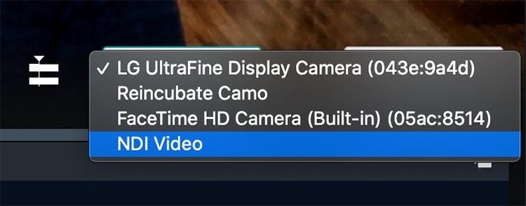 Select NDI Video