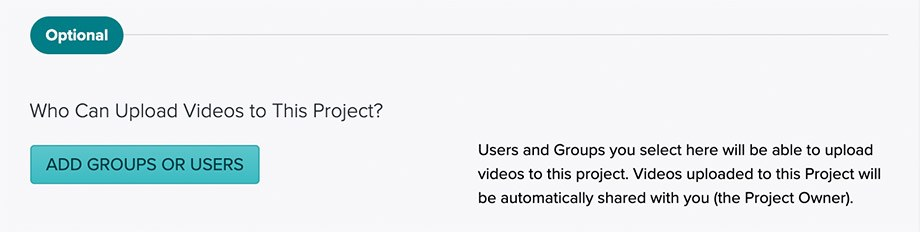 Select who can upload videos to Vosaic Project