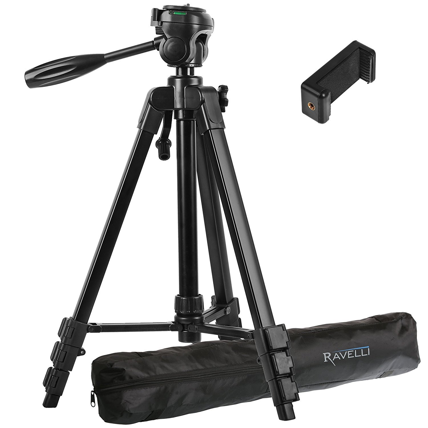 Ravelli Light Weight Aluminum Tripod with Universal Smartphone Mount