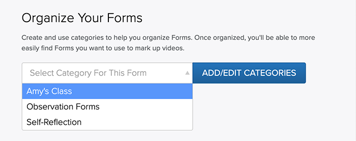 Select a Form Category