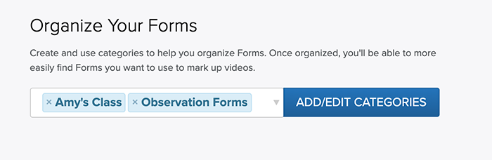 Select Multiple Form Categories