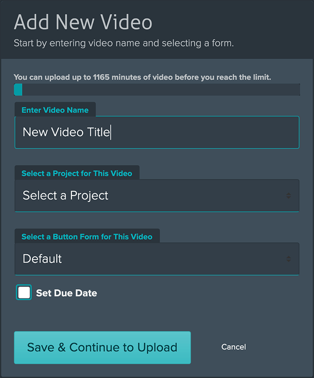 Add New Video