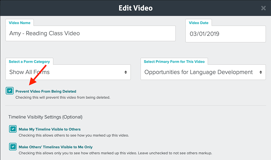 Prevent Video From Being Deleted