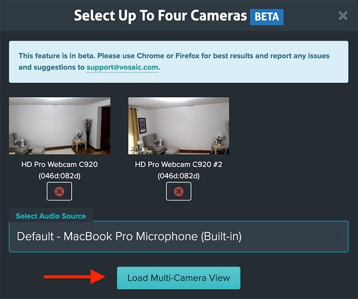 Load multi-camera preview